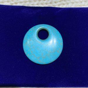 Circle Turquoise Pendant 💙